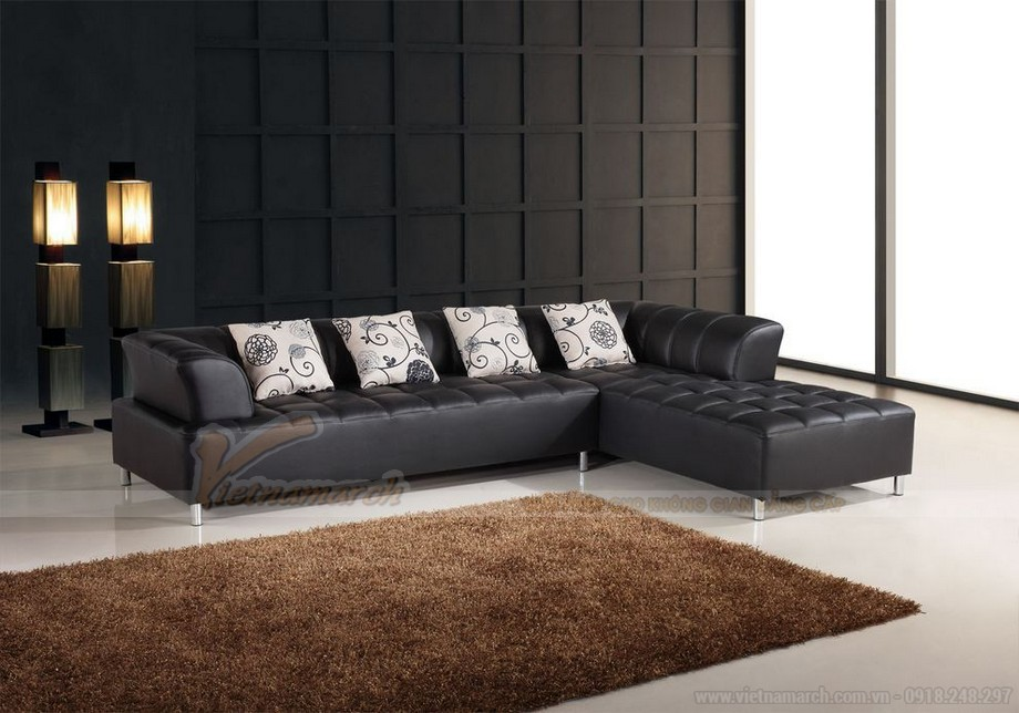 Ghế sofa da đen huyền bí mang ý nghĩa phong thuỷ độc đáo - 08