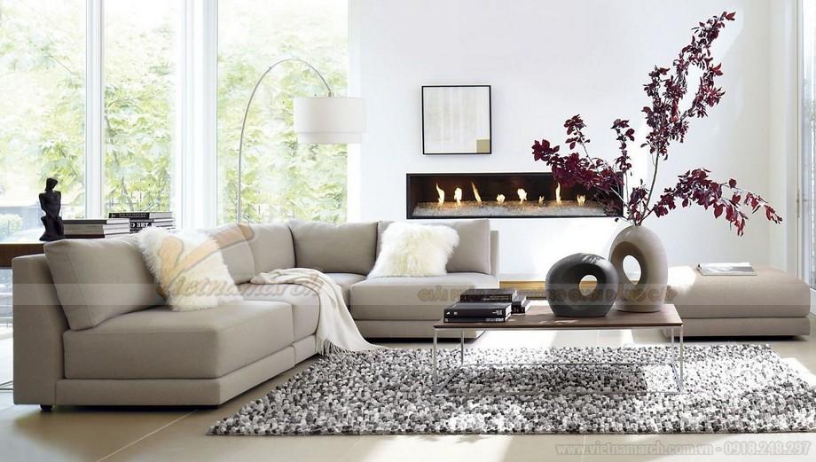 Cách kết hợp ghế sofa phòng khách với bàn trà hợp lý cho chung cư nhỏ - 01