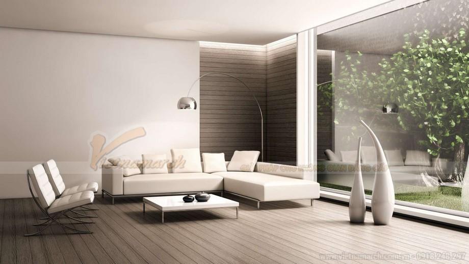 Cách kết hợp ghế sofa phòng khách với bàn trà hợp lý cho chung cư nhỏ - 02