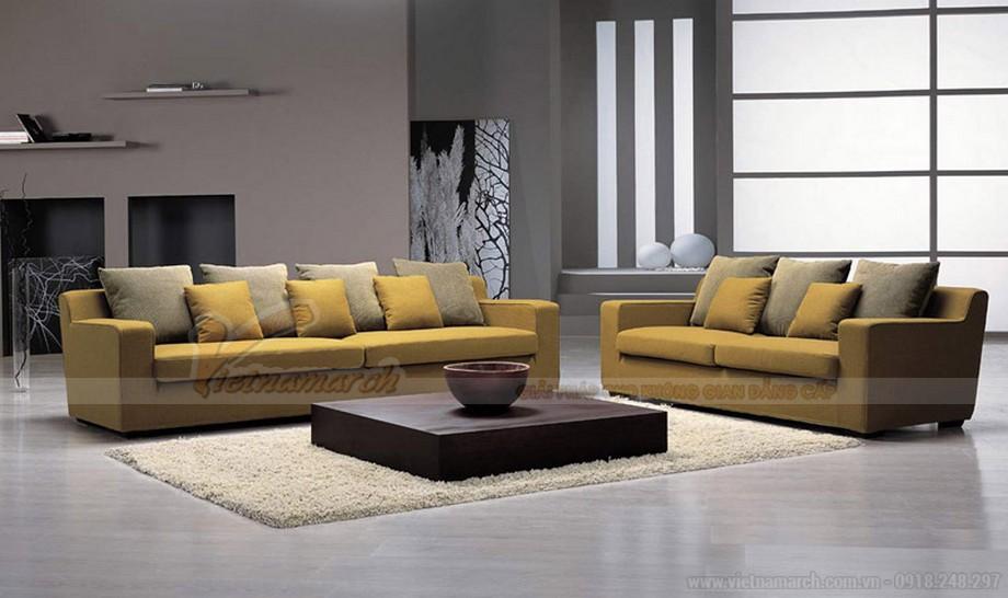 Cách kết hợp ghế sofa phòng khách với bàn trà hợp lý cho chung cư nhỏ - 04