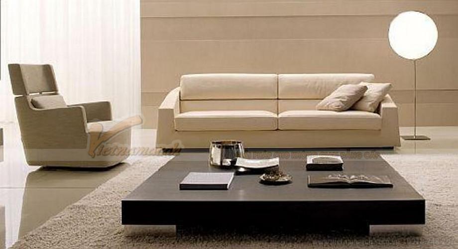 Cách kết hợp ghế sofa phòng khách với bàn trà hợp lý cho chung cư nhỏ - 05