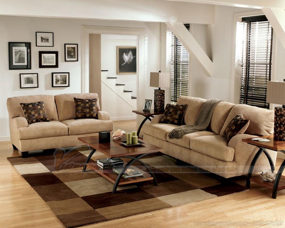Cách kết hợp ghế sofa phòng khách với bàn trà hợp lý cho chung cư nhỏ - 06