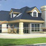 Thiết kế biệt thự nhà vườn mái thái đẹp hiện đại