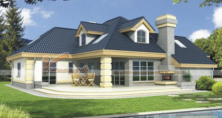 Thiết kế kiến trúc biệt thự nhà vườn mái thái - 01