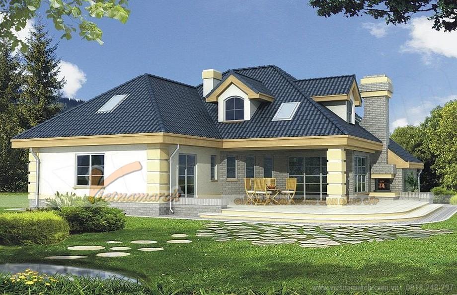 Thiết kế kiến trúc biệt thự nhà vườn mái thái - 02