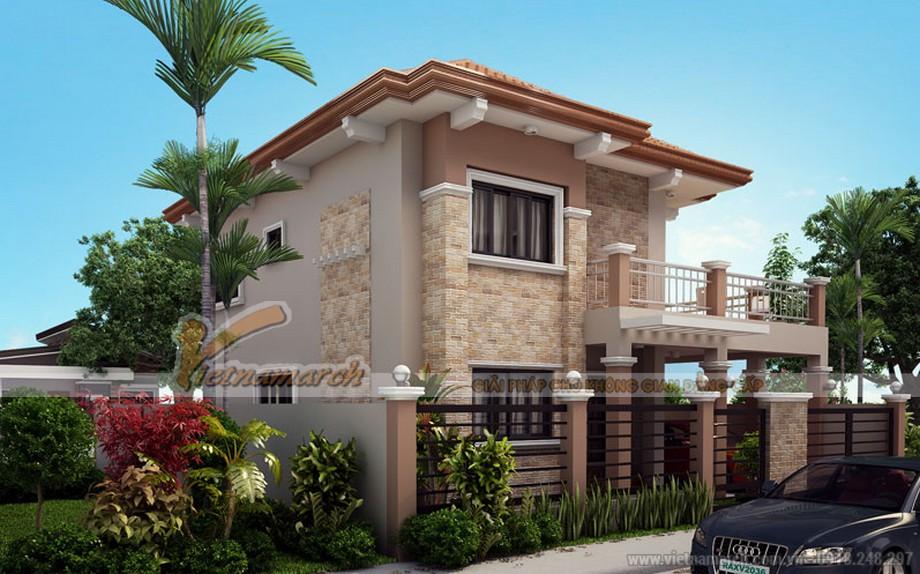Thiết kế kiến trúc biệt thự 2 tầng mái ngói - 02