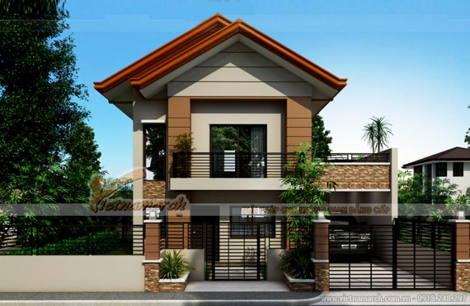 Thiết kế kiến trúc biệt thự mái thái - 01