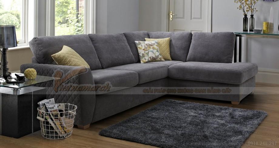 Chiêm ngưỡng hai mẫu ghế sofa vải nỉ đẹp rạng rỡ - 05