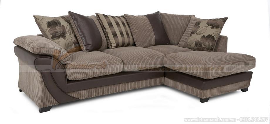 Chiêm ngưỡng mẫu ghế sofa kết hợp chất liệu da và vải độc đáo - 02