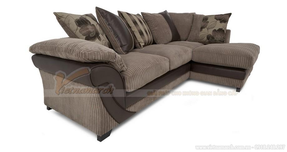 Chiêm ngưỡng mẫu ghế sofa kết hợp chất liệu da và vải độc đáo - 03