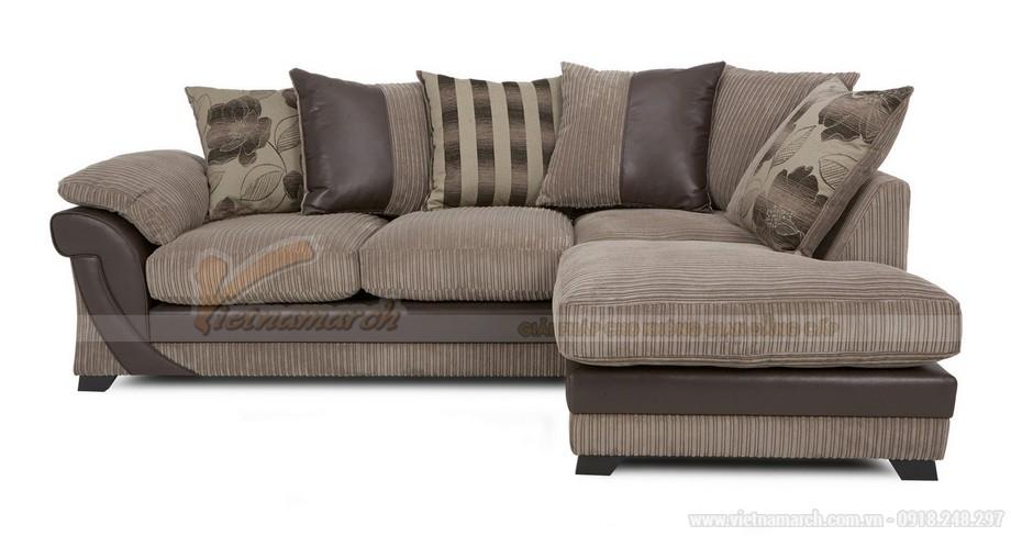 Chiêm ngưỡng mẫu ghế sofa kết hợp chất liệu da và vải độc đáo - 05
