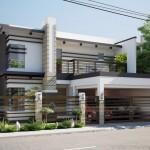 Tư vấn thiết kế biệt thự hiện đại 2 tầng có gara cho nhà anh Đức tại Quảng Ninh
