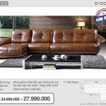 Mẫu ghế sofa da góc – Mã: DG03 – Lạ mắt cho nội thất phòng khách hiện đại