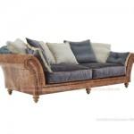 Chiêm ngưỡng mẫu ghế sofa kết hợp chất liệu da và vải độc đáo