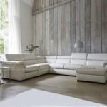 Mẫu ghế sofa góc da trắng cho không gian phòng khách diện tích rộng – Mã: SDG-063