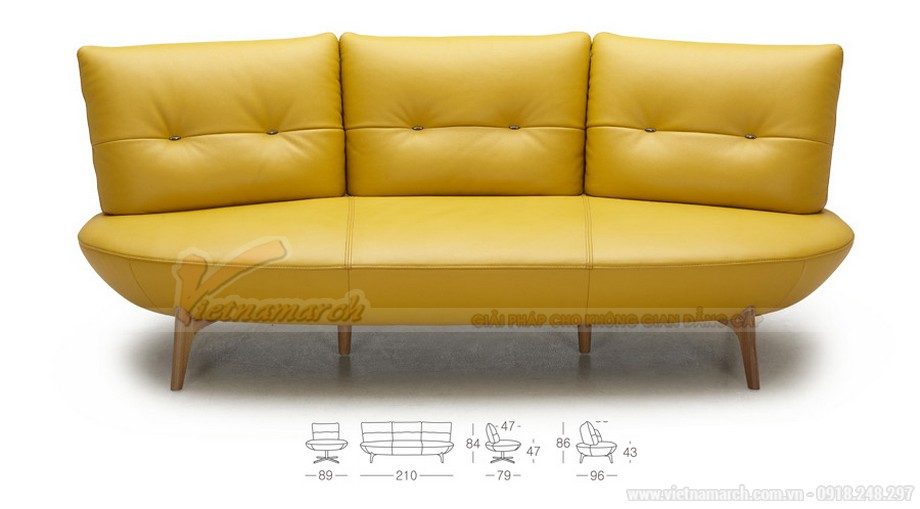 Chiêm ngưỡng mẫu ghế sofa phong cách hiện đại cho không gian phòng khách - 01