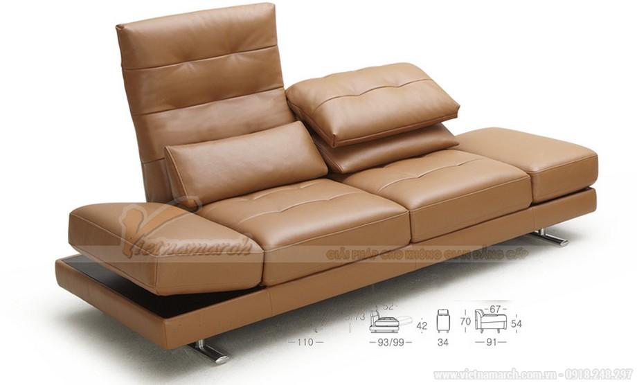 Không gian phòng khách lung linh với mẫu ghế sofa bọc da cao cấp - 05