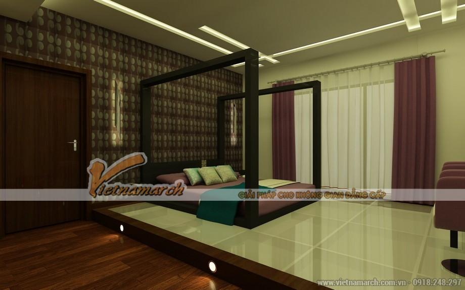 Phòng ngủ đẹp mắt với cách phối màu độc đáo