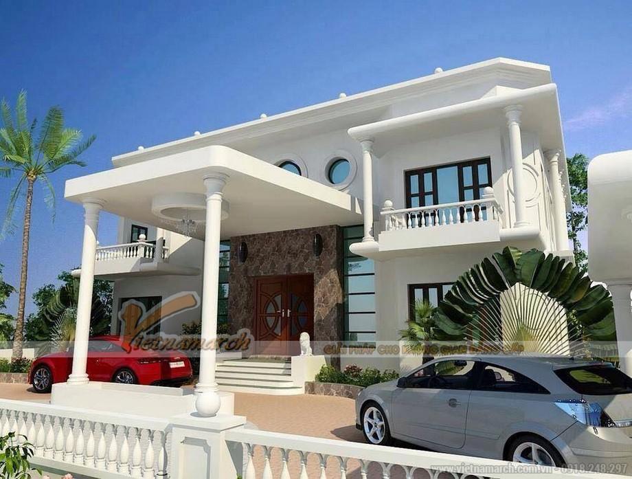 Thiết kế kiến trúc, nội thất biệt thự nhà anh Hồng tại Long An