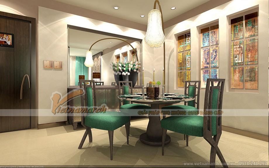 Thiết kế nội thất phòng ăn - ấm áp dưới ánh sáng vàng