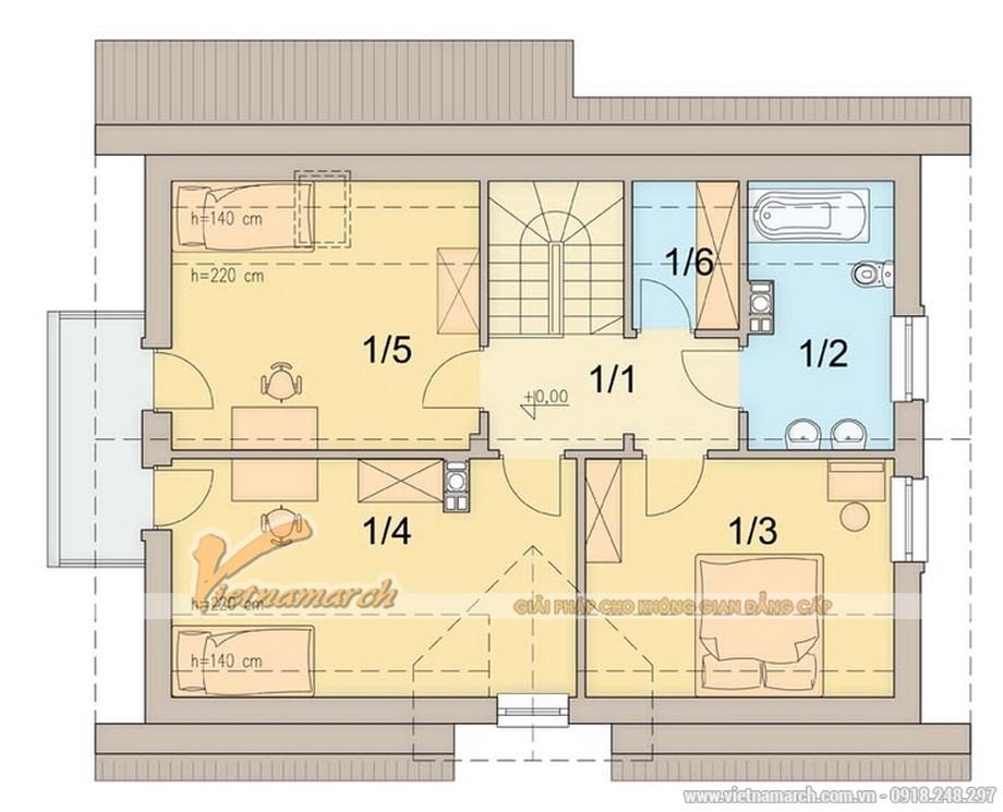 Thiết kế mặt bằng tầng 2 cho nhà cấp 4 có gác lửng