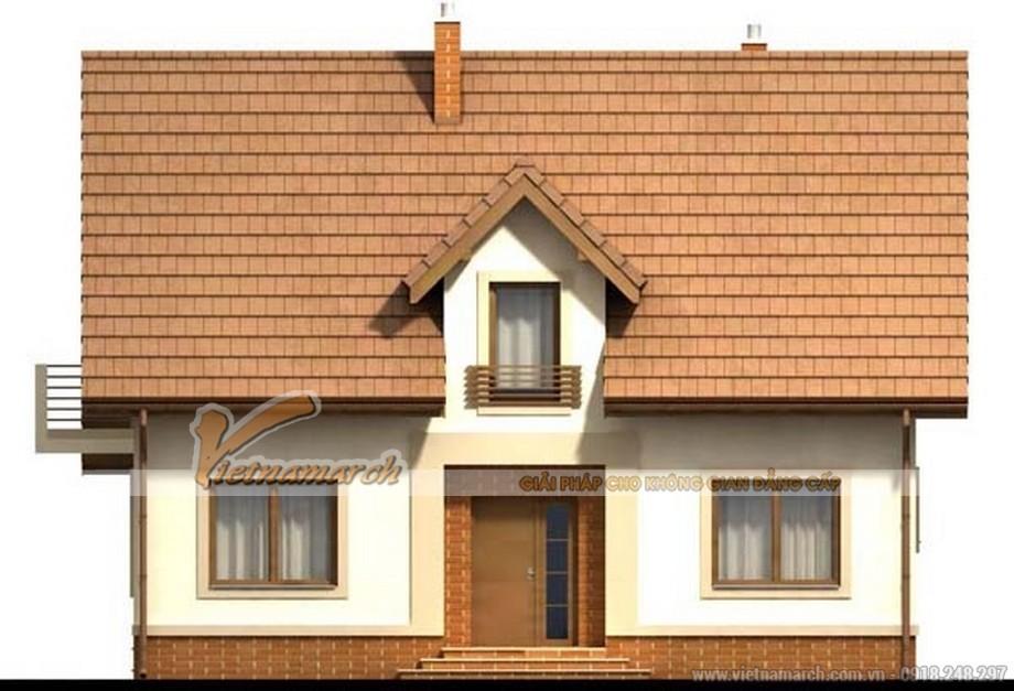 Mặt chính của ngôi nhà