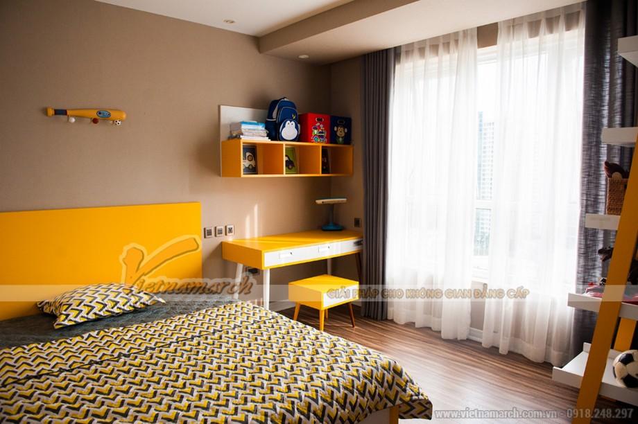 Phòng ngủ của bé tươi vui với gam màu vàng - đen