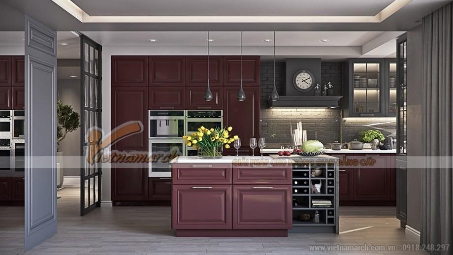 Căn bếp sang trọng và đẹp mắt với thiết kế vintage cổ điển