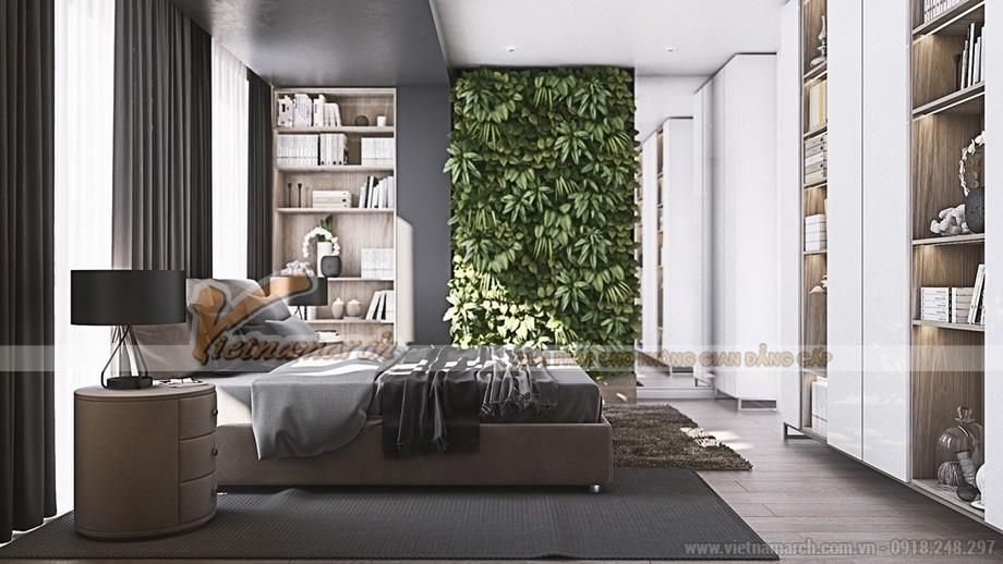 Lịch lãm và nhẹ nhàng trong thiết kế phòng ngủ master