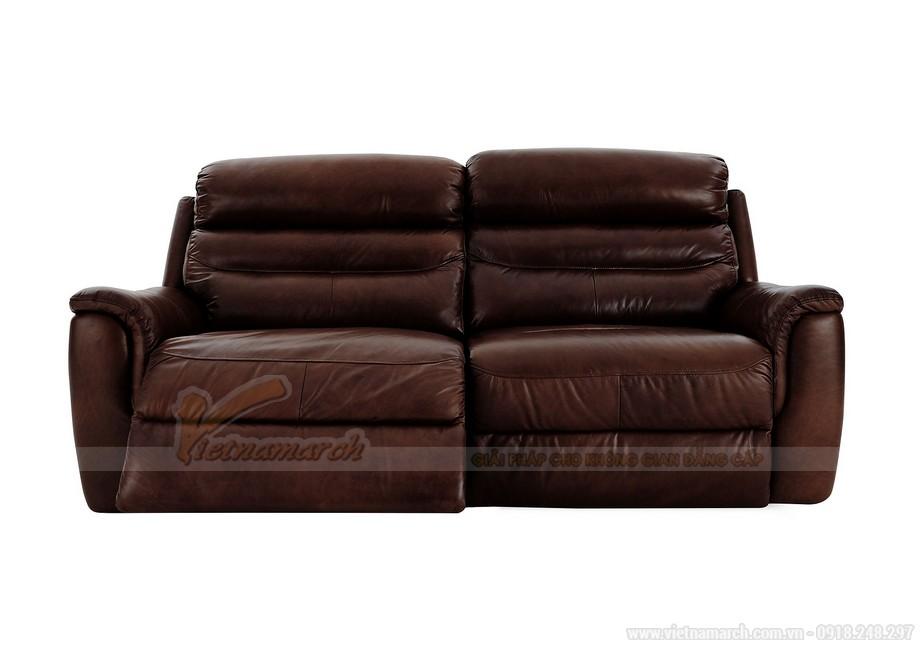 Những mẫu ghế sofa da nâu đẹp quyến rũ cho không gian phòng khách - 10
