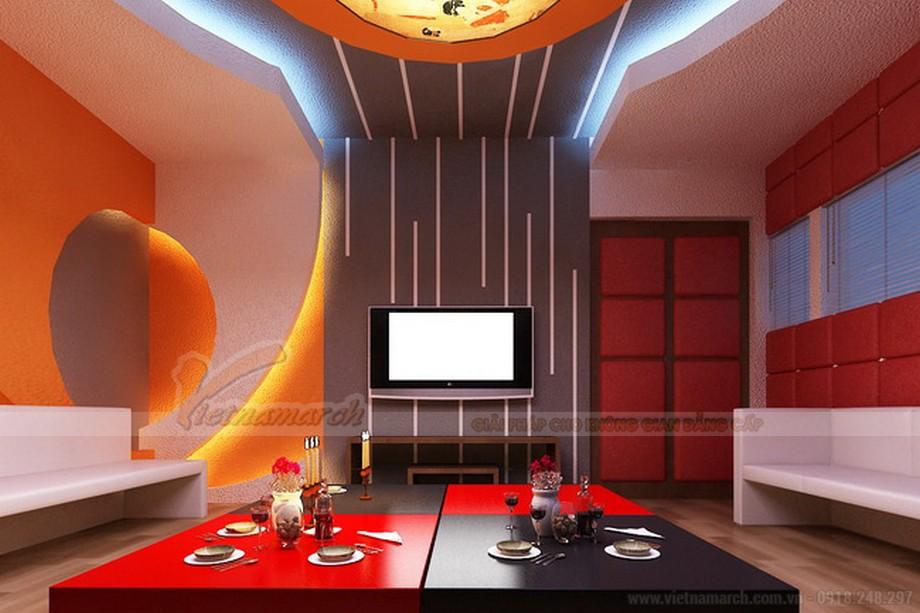 mẫu trần thạch cao tuyệt vời nhất cho phòng karaoke gia đình