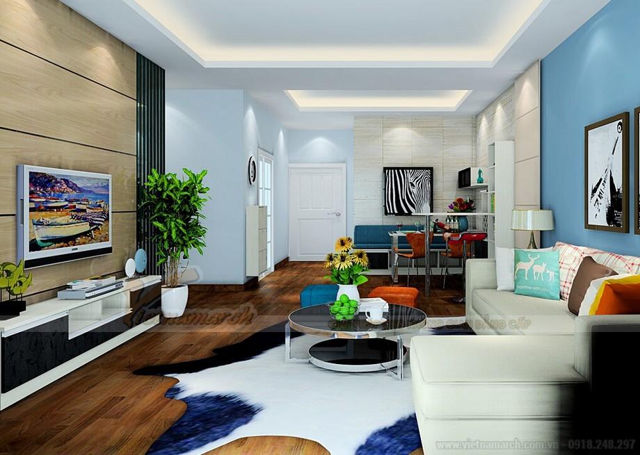 Mẫu trần thạch cao đẹp cho phòng khách kết hợp phòng ăn