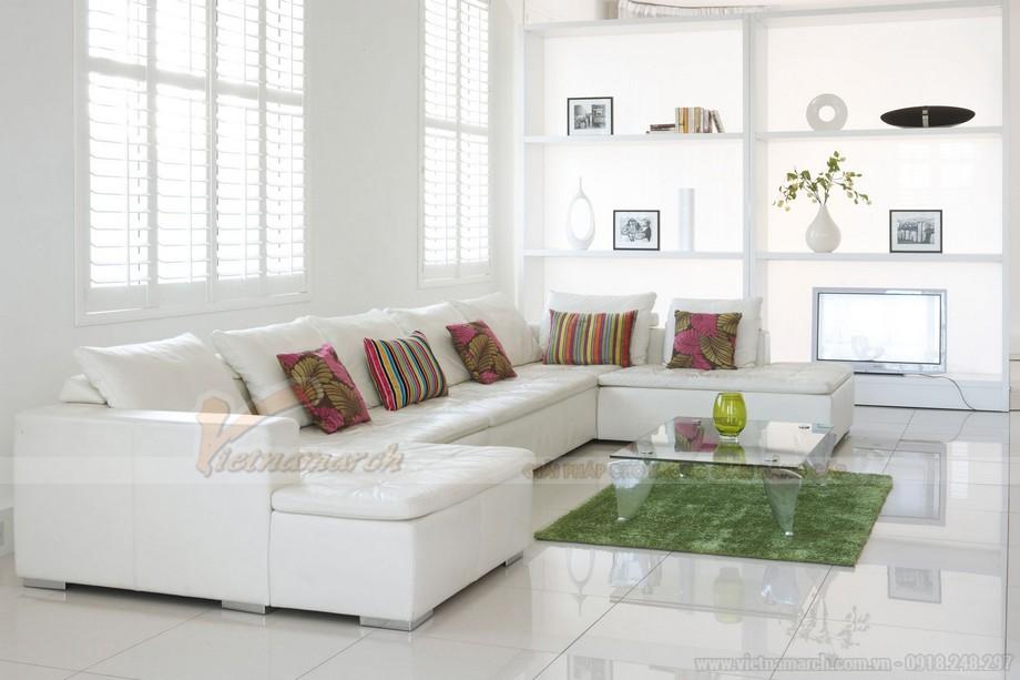 Mẫu ghế sofa đẹp cho phòng khách hiện đại- 02