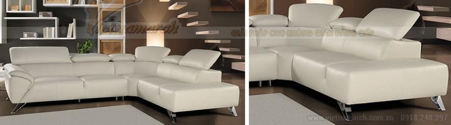 Không gian phòng khách lung linh với mẫu ghế sofa bọc da cao cấp - 07