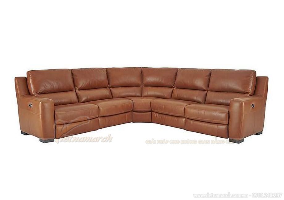 Những mẫu ghế sofa da nâu đẹp quyến rũ cho không gian phòng khách - 02