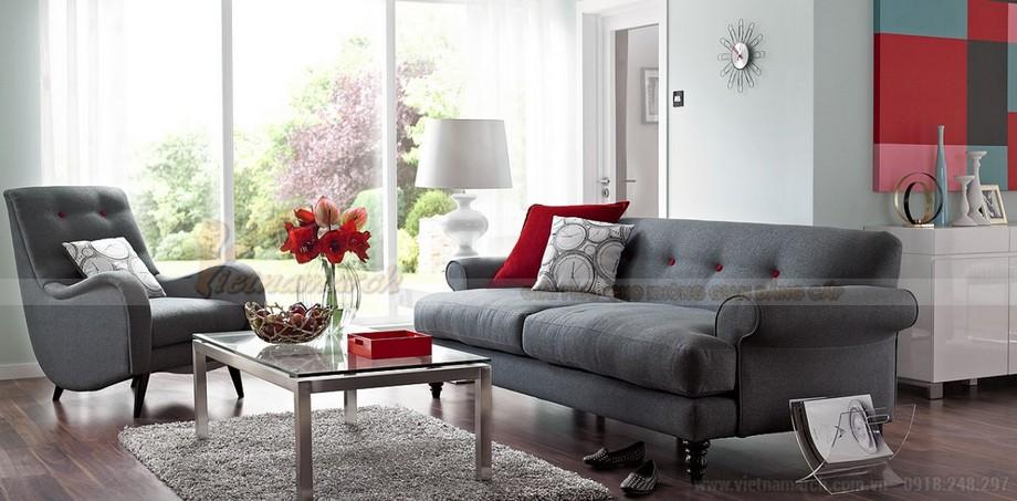 Cách lựa chọn ghế sofa phòng khách chung cư diện tích 10 - 15m2 - 03