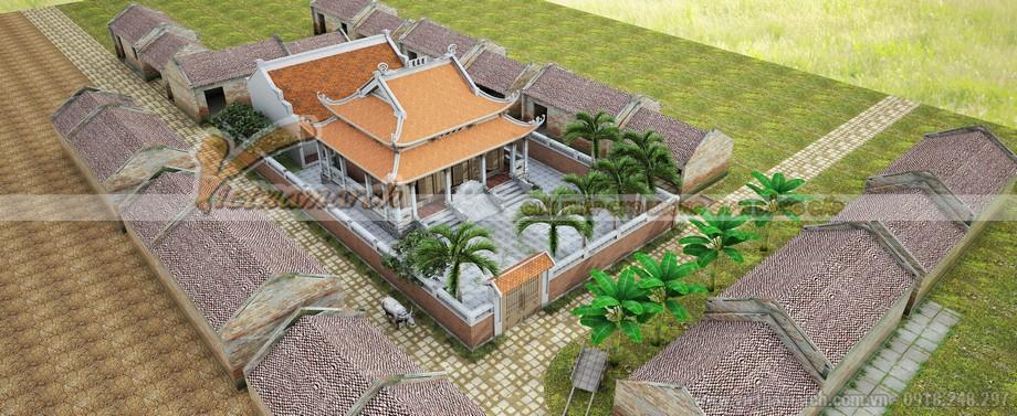 Mẫu nhà thờ họ 3 gian 8 mái tại Ninh Bình