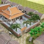 Tư vấn thiết kế nhà thờ họ 8 mái nhà chú Long tại Ninh Bình