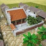 Thiết kế nhà thờ họ 2 mái, nhà ngang để ở cho nhà chú Phúc tại Yên Bái