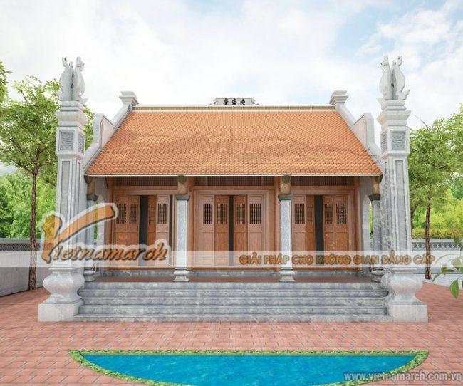 Mẫu thiết kế nhà thờ họ 3 gian 2 mái tại hải dương
