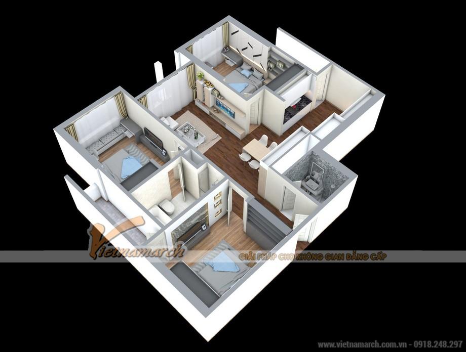 Phương án cải tạo thêm phòng ngủ cho căn hộ 02 Park 8 Times City