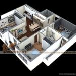 Phương án thêm phòng ngủ cho căn hộ 02 Park 8 chung cư Times City Park Hill