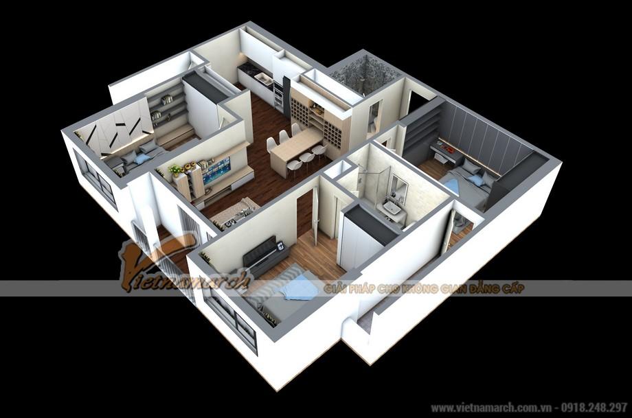 Phương án cải tạo căn hộ 02 Park 8 được kiến trúc sư Vietnamarch đưa ra cho chủ nhà vô cùng tối ưu