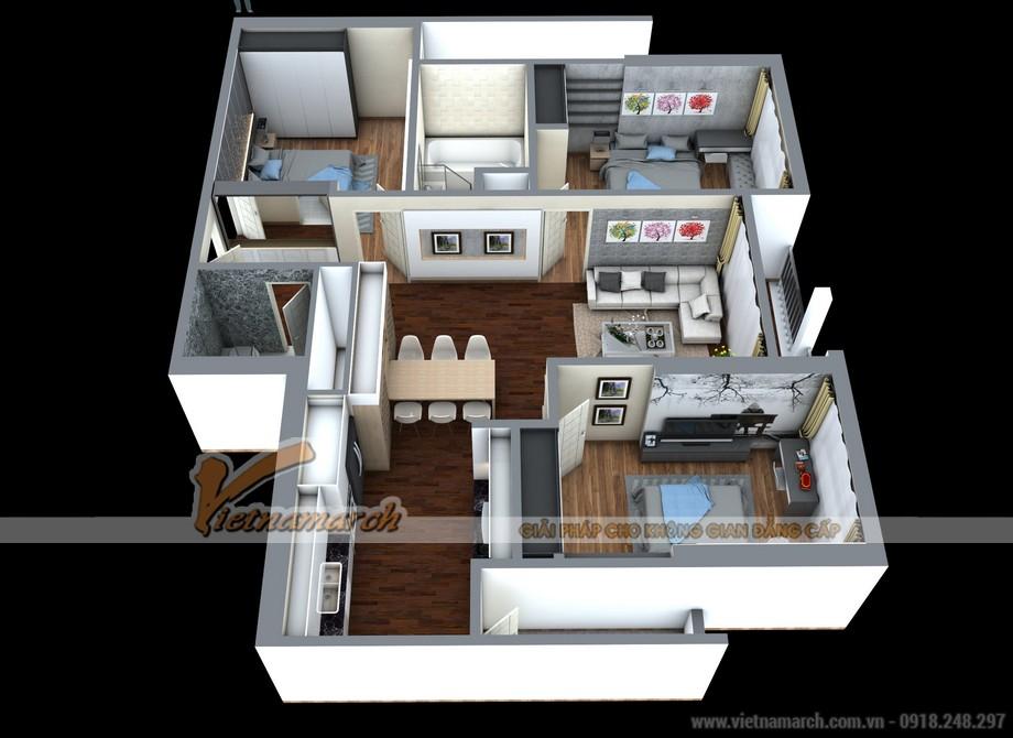 Phương án cải tạo tối ưu cho căn hộ 02 Park 8 Times City