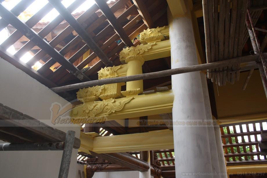 Quá trình sơn bê tông giả gỗ