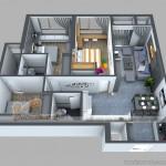 Phương án thiết kế căn hộ 08 Park 1 Times City, 3 phòng ngủ rộng rãi