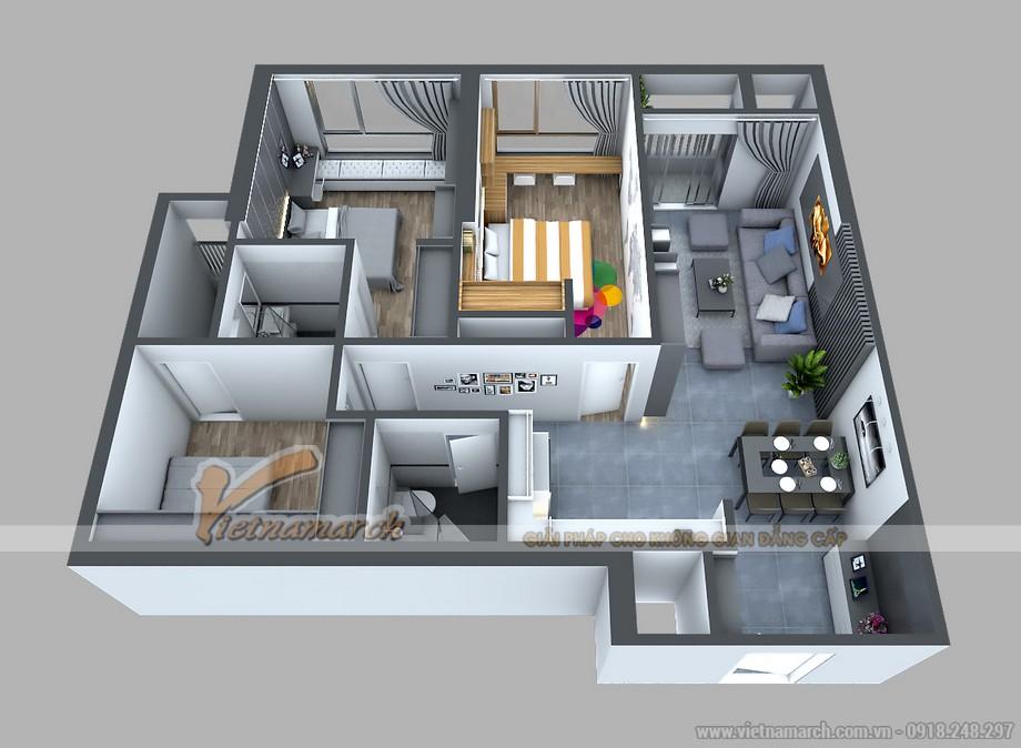 Phương án thiết kế căn hộ 08 Park 1 - Times City