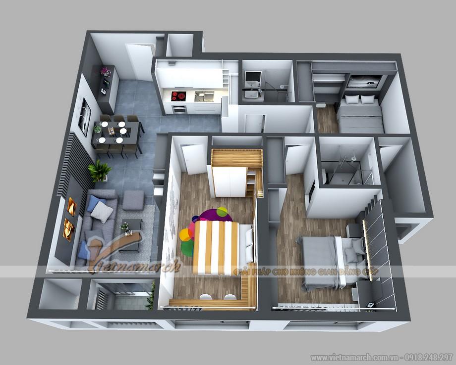 Thiết kế 2 phòng ngủ lớn rộng rãi thiết kế cửa lùa lớn đón nhiều ánh sáng