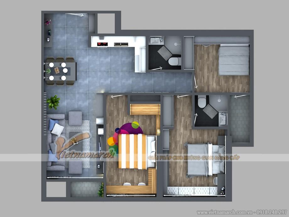 Thiết kế nội thất căn hộ 08 Park 1 Times City