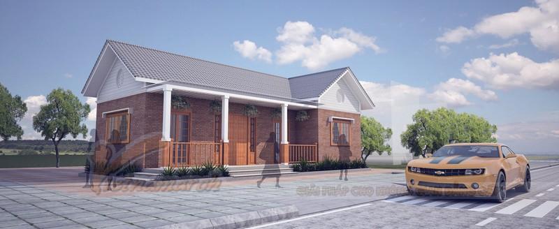 Nhà cấp 4 mái thái hiện đại cho nhà anh Tài tại Vĩnh Phúc